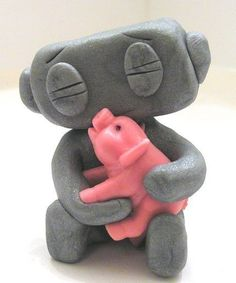 Robot and pig. OMG AMELIA AND SCARLETT. I need to make this.