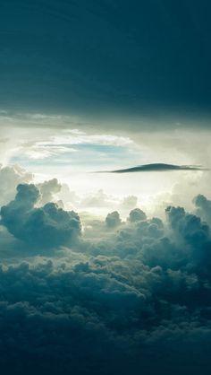 Sky Cloud Blue Nature Summer #iPhone #5s #wallpaper