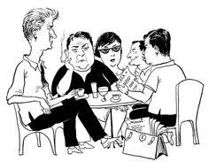 Είκοσι χρόνια χωρίς τον Μάνο. Τι λέτε, πάμε μαζί του για έναν πρωινό καφέ μέχρι το πατάρι του Λουμίδη; Σίγουρα όχι καφέ της παρηγοριάς. https://m.youtube.com/watch?v=PSbpdmxib1Y  Φωτ. Σκίτσο του Μποστ