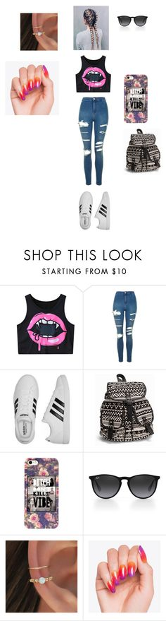 """""""otra copa"""" by gabriela-valentina-gs on Polyvore featuring Topshop, adidas, NLY Accessories y Ray-Ban"""