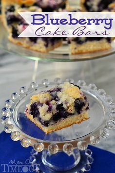 Blueberry Cake Bars - Mom On Timeout