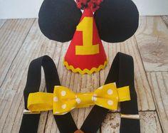 Cumpleaños Mickey Mouse traje mono de por KennedyCoBabyGoods