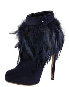 nicholas kirkwood feather trim ankle boot
