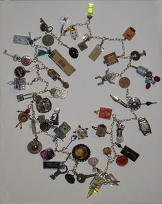 Make one special photo charms for you, compatible with your Pandora bracelets. JoAnne Ouellette – Found Objects Necklace - ADDED CHARMS - I wish my random object jewellery looked this good! Funky Jewelry, Charm Jewelry, Boho Jewelry, Jewelry Crafts, Jewelry Art, Beaded Jewelry, Vintage Jewelry, Handmade Jewelry, Jewelry Design
