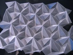 Folded plastic origami- plegados