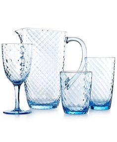 Home Design Studio Blue Acrylic Drinkware Collection, Only at Macy's - All…