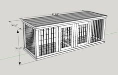 SAVE HUNDREDS of Dollars by using our easy to follow plans to build your own custom wooden Doggie Den. Mans best friend deserves the best. They deserve better than an ugly wire dog crate. Wooden Custom Dog Kennels are beautiful and add style to your home. Fluffy will no longer have to #BestWoodworking