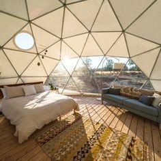 Yurt Living, Living Area, Outdoor Living, Geodesic Dome Homes, Geodesic Dome Greenhouse, Luxury Glamping, Glamping Tents, Dome Structure, Dome House