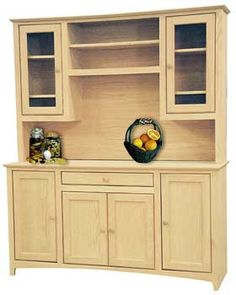 pine hutch - unfinished furniture new jersey, new york and
