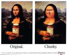 Le 1000 variazioni delle Gioconda, in queste irriverenti pubblicità.