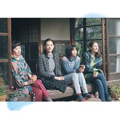 "Kaho , Haruka Ayase , Suzu Hirose , Masami Nagasawa / ""Sea-city Diary(海街diary)"" Our Little Sister, Little Sisters, Go To The Cinema, Drama Movies, I Fall In Love, Japanese Girl, I Movie, Beautiful People, Girl Fashion"