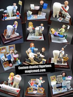 Dentist with Braces - Orthodontist's Gift - Custom Made Dentist Gift- Dental Figurine, Personalized Dentist Present, Dentist Graduation Gift Teeth Implants, Dental Implants, Dental Surgery, Surgeon Humor, Custom Made Gift, Gifts For Dentist, Personalized Christmas Gifts, Cosmetic Dentistry, Dental Care
