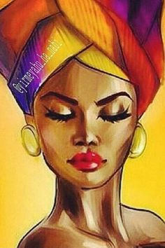 "ideas black art painting afro for 2019 "" – syllabus Black Art Painting, Black Artwork, Woman Painting, Afro Painting, Lion Painting, Painting People, Drawing People, Artist Painting, Watercolor Painting"
