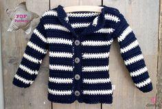 Gehaakt baby vest met haakpatroon - Dimfies