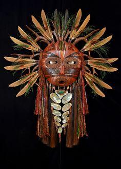 Earth Spirit mask, artist Black Eagle, (Shoshone and Yokut ) Arte Tribal, Tribal Art, African Masks, African Art, Native Art, Native American Indians, Ceramic Mask, Mask Dance, Art Premier