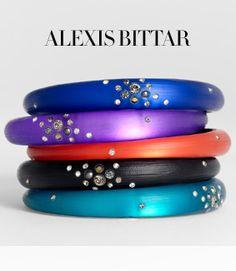 gahhhh so pretty alexis bittar bangles