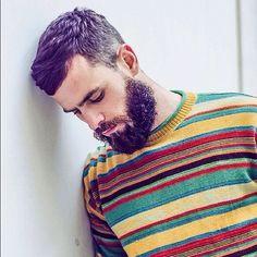 Need da sweater.tryin to achieve da beard. Hair got it Short Hairstyles For Women, Haircuts For Men, Cool Hairstyles, Men Hair Color, Cool Hair Color, Hair Colour, Hairy Men, Bearded Men, Hair And Beard Styles