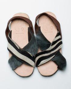 Brother Vellies Tyre Sandal in Zebra