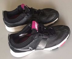 39.99 free shipping NIKE ZOOM LIGHT WEIGHT SIZE 5.5 RUNNING BLACK WHITE  2009 MIDFIT VERY NICE 8def8bd662f