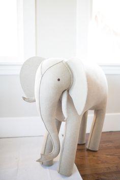 Elephant: http://www.stylemepretty.com/living/2015/04/28/a-timeless-neutral-nursery/ | Photography: Matthew Land - http://www.matthewland.com/