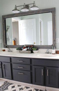 Farmhouse Master Bathroom Remodel Ideas (8) #BathroomRemodeling
