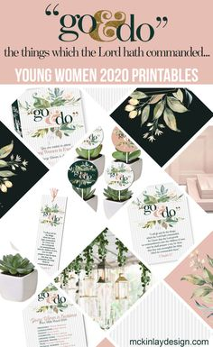 "2020 Young Women theme ""Go & Do"" printables for evening of Excellence – McKinlay Design Cute Birthday Gift, Birthday Woman, Birthday Gifts For Women, Young Women Lessons, Young Women Activities, Family Activities, Indoor Activities, Summer Activities, Therapy Activities"