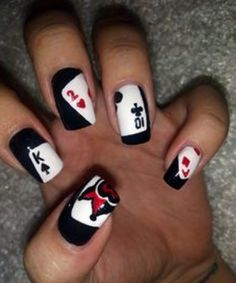 #Card #Themed #Nail #Art