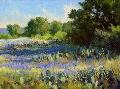 Blue Shadows of Spring by Mark Haworth Oil ~ 9 x 12