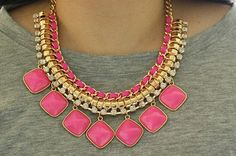 Hey, I found this really awesome Etsy listing at https://www.etsy.com/listing/221616817/necklace-pink-power-bib-statement