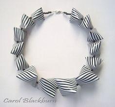 black and white necklace (or bracelet) - (Universe Mininga)