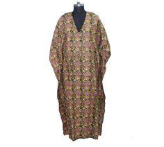 Indian cotton kaftan cotton nightwear beachwear dress bikini cover up maternity wear lounge wear dress by indiantexture on Etsy