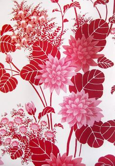 Pink and Red Floral ~ Florence Broadhurst Prints