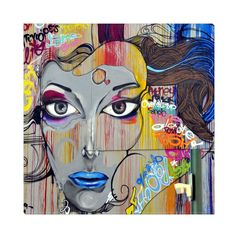 """Beautiful digitally enhanced graffiti art. Add beauty to any room with this gorgeous canvas wrapped art print. Features: • UV-coating, scratch resistant • 1.25"""" thick edges • Ready to hang"""