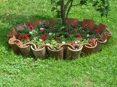Front Yard Landscaping Plans, Garden Landscaping, Small Garden Arrangements, Garden Crafts, Garden Projects, Outdoor Garden Bench, Patio, Front Garden Landscape, Garden Whimsy