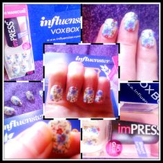 My ImPress nails, thanks to @Influenster and @Broadway Nails #impressmanicure. I love the pretty designs and these are by far the easiest manicures to do at home! You don't even need nail glue, you just peel off the sticker and stick them on! A must have for college students like me who don't have much time for nails!