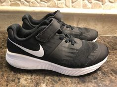 a0ad5abacd05 Nike Kids Star Runner Black With White Kids Running Shoes Size  2 Y  fashion