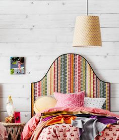 Headboards, often ignored,  can be such fun & add a whole new design element to the plainest of rooms.  Heatherlydesignbedheads and Anna Spiro Textiles