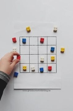 DIY Sudoku for kids with Lego- Make Sudoku for children yourself. Color sudoku with Lego bricks. Simple concentration exercise for children # educational game # concentration exercise Toddler Learning Activities, Fun Activities For Kids, Infant Activities, Toddler Preschool, Games For Kids, Diy For Kids, Kids Learning, Crafts For Kids, Exercise For Kids