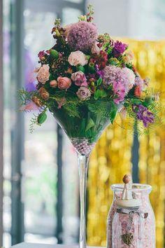 Cocktail Glas Flowers Wedding Hochzeit Blumenmädchen Köln