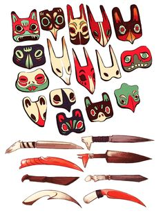 Love these masks by Quinne Larsen!