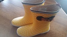 Choka Yellow Dot Rain Boots by sistersvintageattic on Etsy