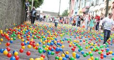 The Barrack Hill Ball Roll is a unique lottery when thousands of coloured numbered balls cascade and bounce down West View in Cobh, Ireland Irish Lottery, Solar System Crafts, School Fundraisers, Emerald Isle, Bake Sale, Things That Bounce, Balls, Cork Ireland, Rubber Duck