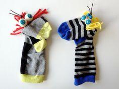 Sockenhandpuppen / Hand puppets made of old socks