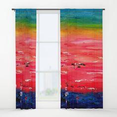 Crimson Sunset Window Curtains by terainbdesigns