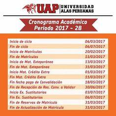 la Visión Gerontològica : UAP-GERONTOLOGÍA CRONOGRAMA ACADÉMICO 2017 -2B