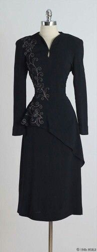 Parellada. 1940s cocktail dress.