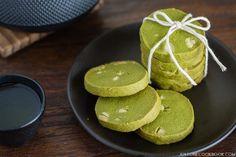 Green tea cookies w/ white chocolate