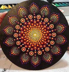 Dot Art Painting, Mandala Painting, Mandala Art, Christmas Mandala, Painted Rocks, Hand Painted, Mandala Rocks, Mandala Pattern, Resin Art