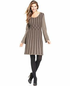Style&co. Dress, Long-Sleeve Ribbed-Knit Sweaterdress - Dresses - Women - Macy's