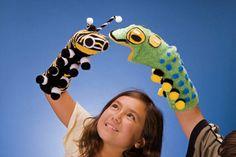 caterpillar sock puppets